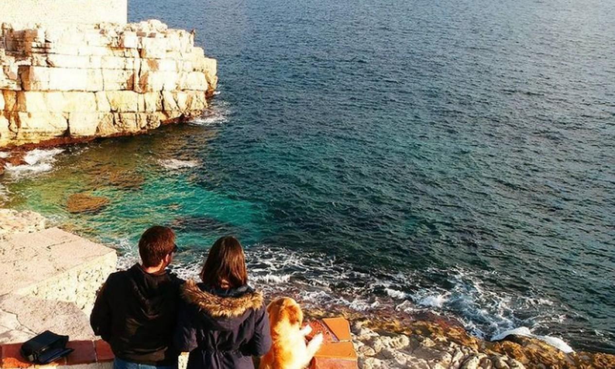Rennan, Talita e Lilo na França Foto: Reprodução Instagram