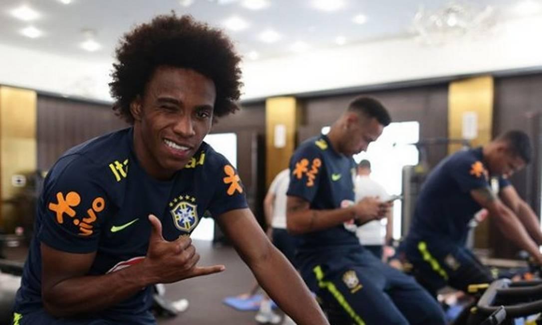 Willian, contratado recentemente como reforço do Corinthians Foto: Lucas Figueiredo/CBF