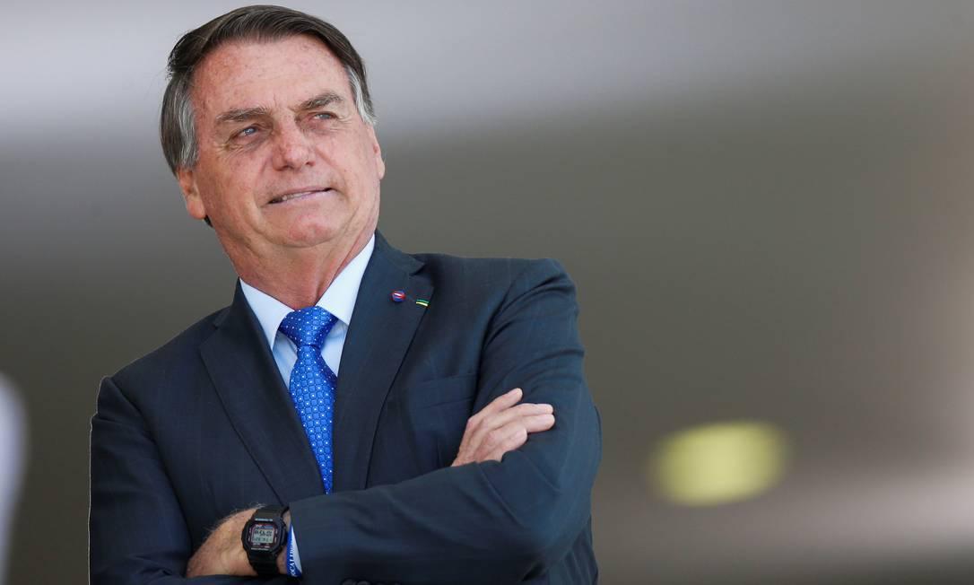 O presidente Jair Bolsonaro, durante evento no Palácio do Planalto Foto: Adriano Machado/Reuters