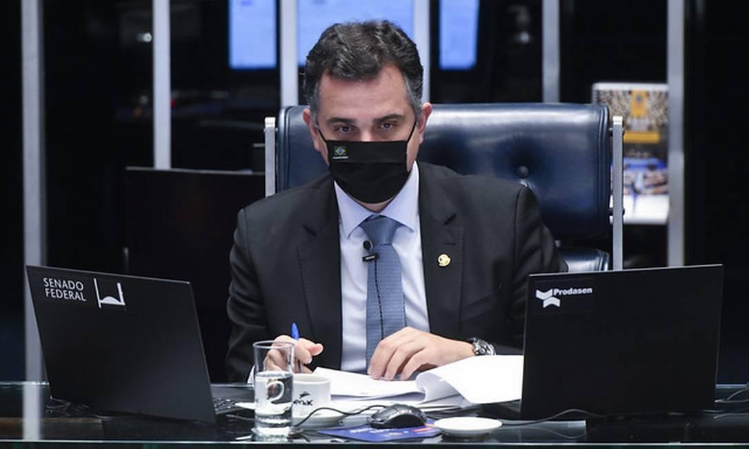 O preisdente do Senado, Rodrigo Pacheco (DEM-MG) 25/08/2021 Foto: Leopoldo Silva/Agência Senado