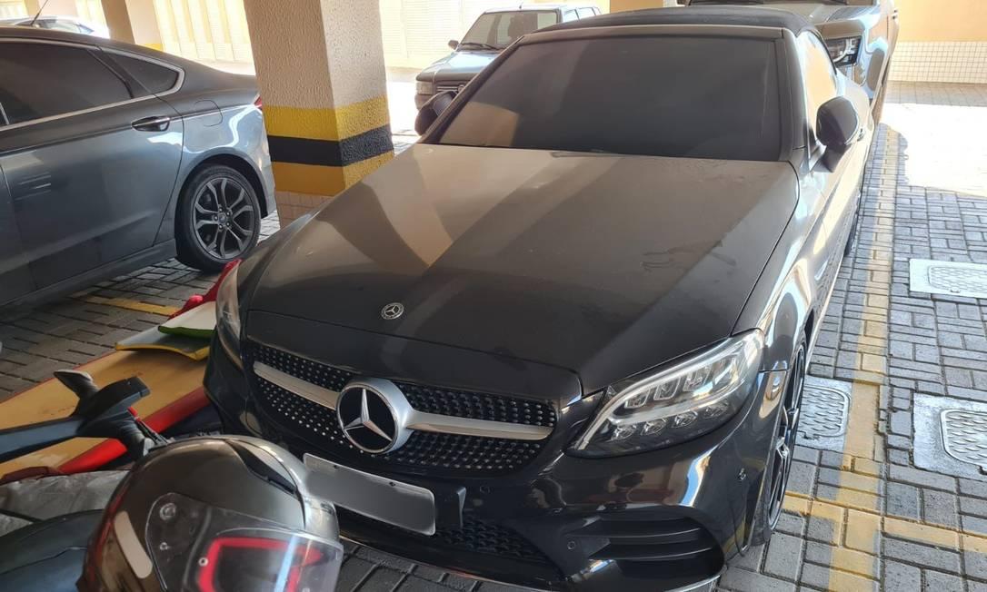 Carro de luxo apreendido em operação da PF Foto: Divulgação