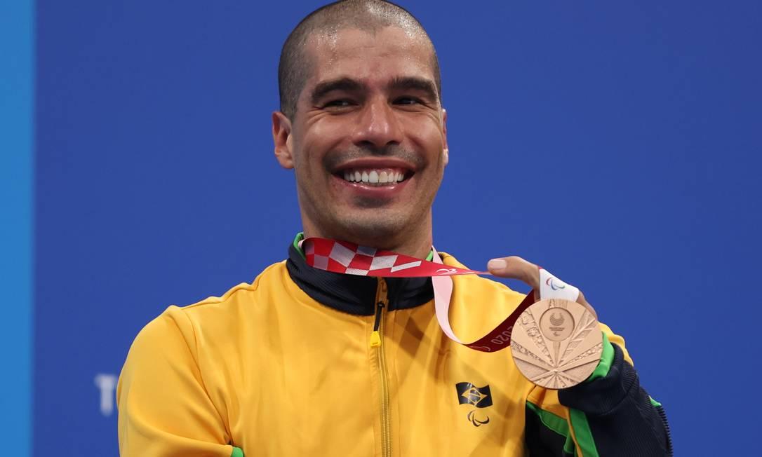 Daniel Dias ficou com a medalha de bronze nos 200m livre S5 Foto: Molly Darlington/Reuters