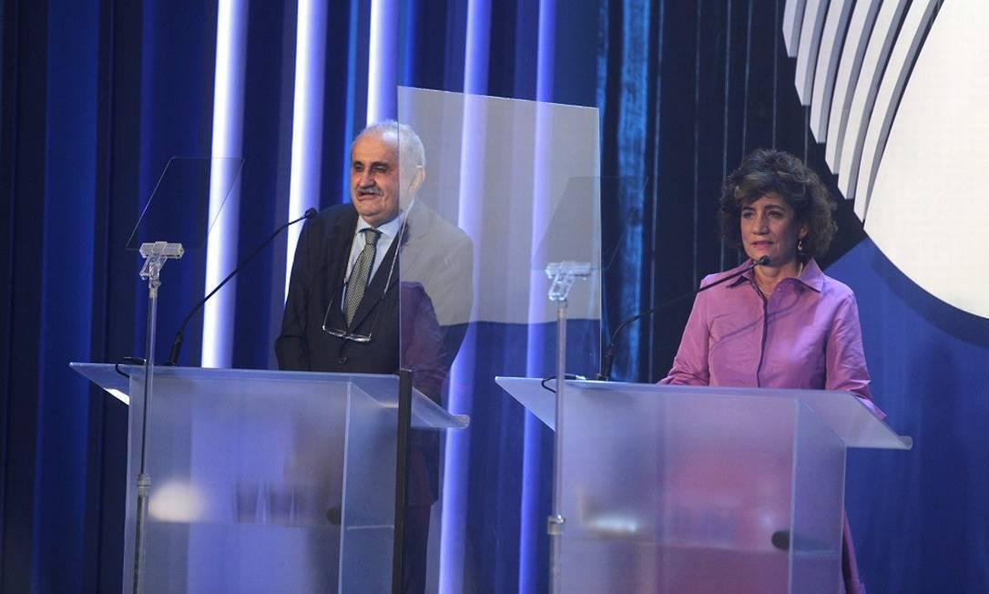Ancelmo Gois e Míriam Leitão apresentam o prêmio Foto: Alexandre Cassiano