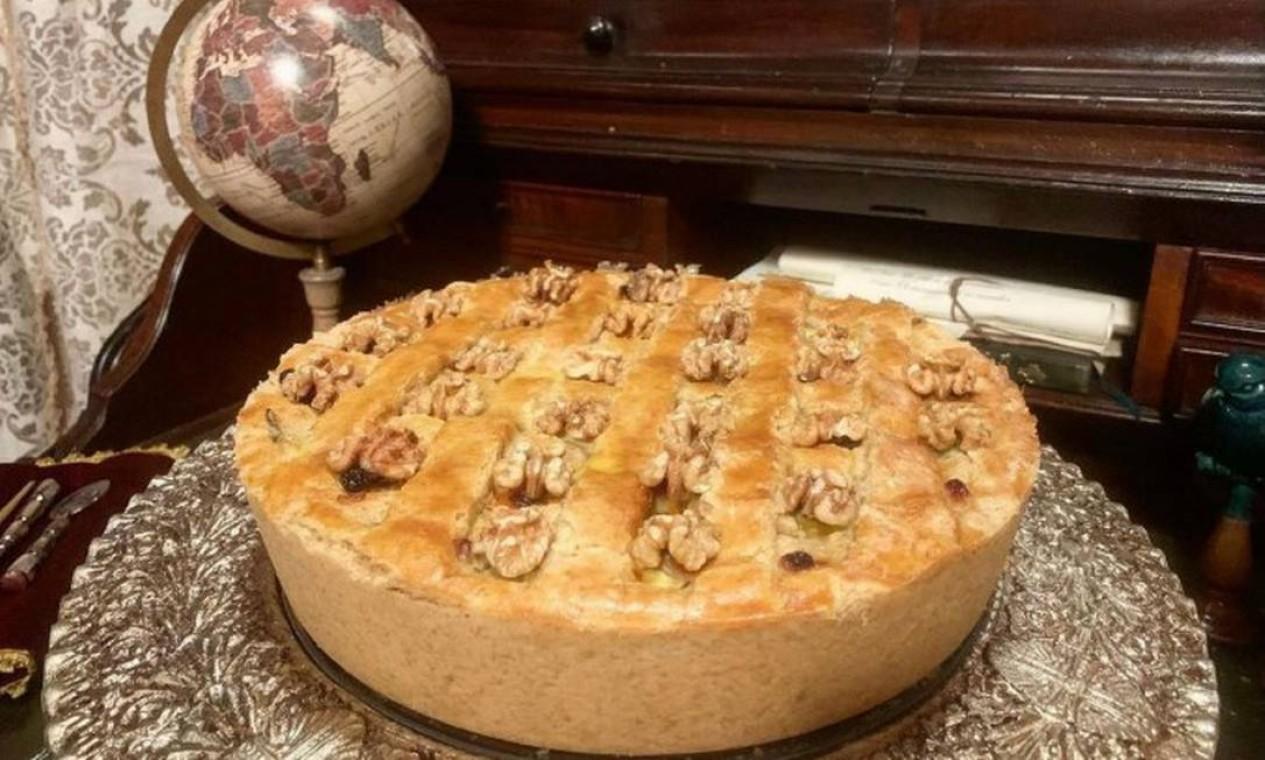 Torta rústica de hortela, nozes e abobrinha Foto: Flavia Cristofaro