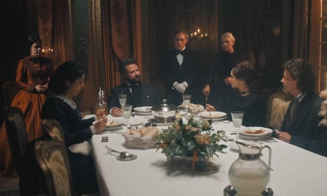 """Jantar em """"Nos tempos do Imperador"""" Foto: Reprodução"""