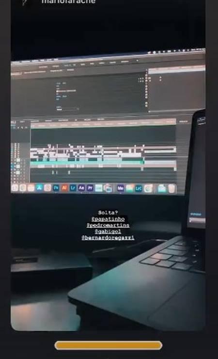 Gravações de Gabigol Foto: Instagram