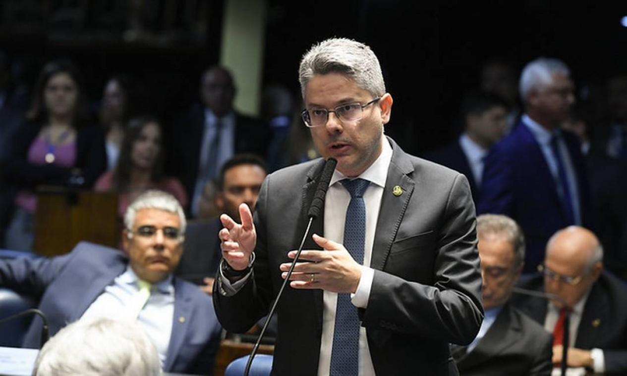 O senador Alessandro Vieira (Cidadania-SE) lançou a sua pré-candidatura no partido. Foto: Roque de Sá/Agência Senado 19/11/2019