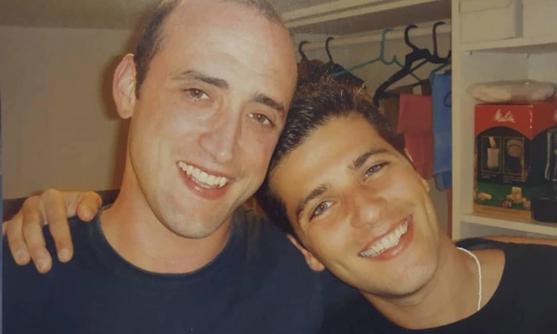 Paulo Gustavo e Bruno Gagliasso em foto antiga Foto: Instagram / Reprodução