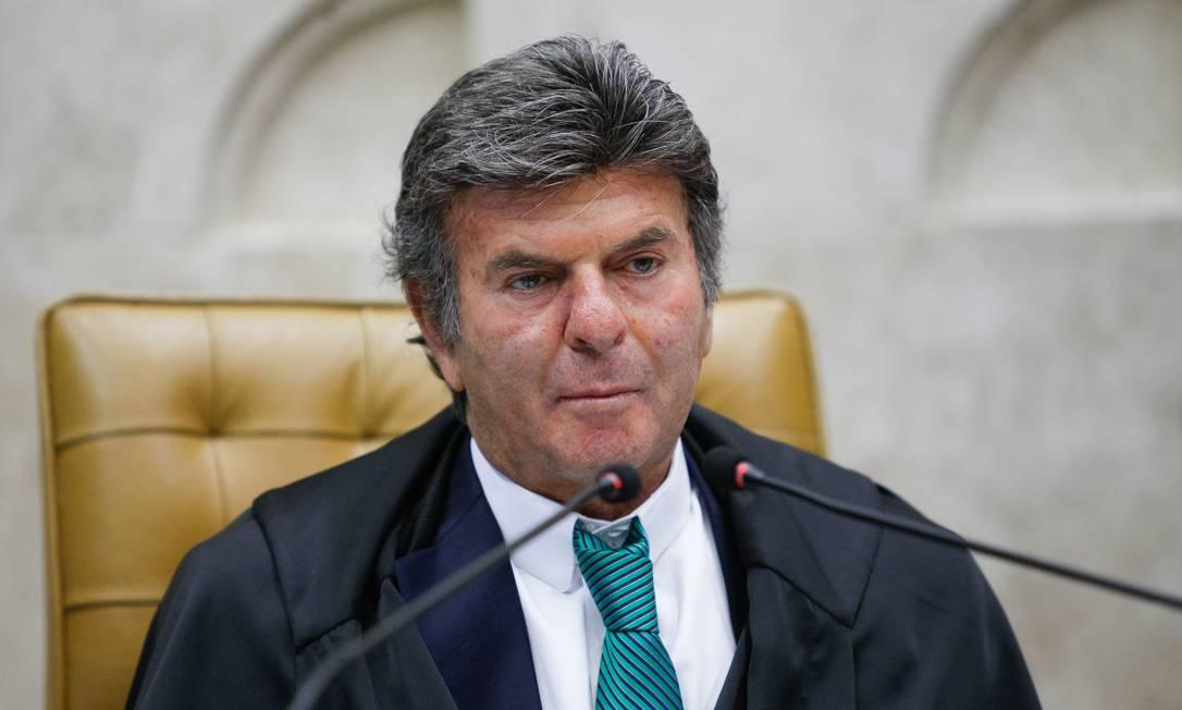 O presidente do STF, ministro Luiz Fux, durante sessão realizada por videoconferência Foto: Fellipe Sampaio/STF/25-03-2021