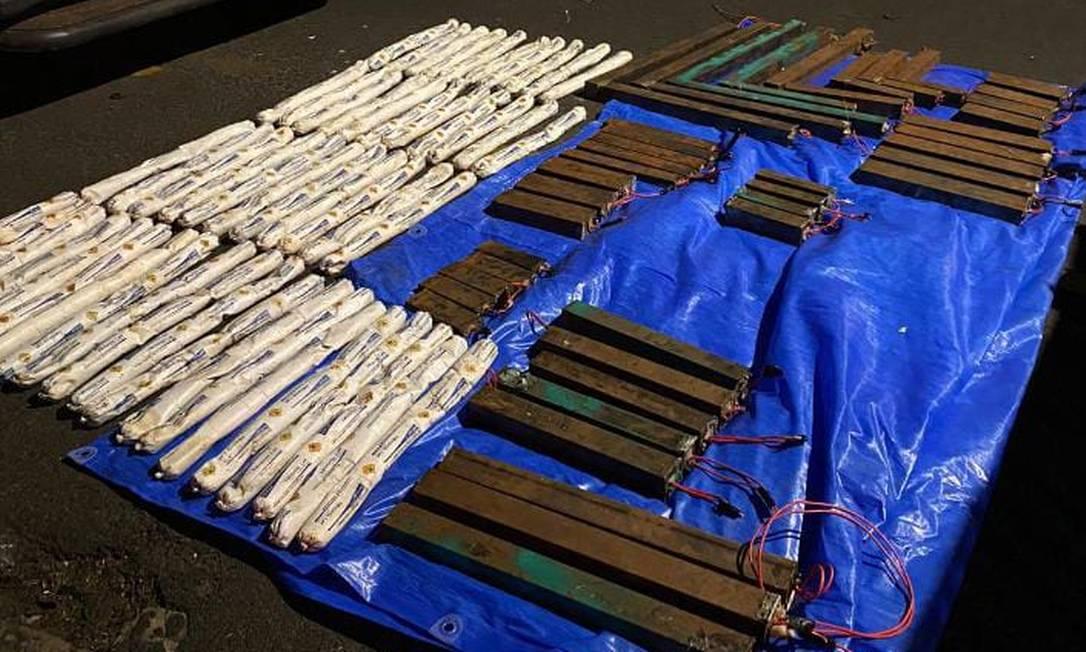 Explosivos deixados por quadrilha em Araçatuba foram recolhidos pela polícia Foto: Polícia Militar/ DIvulgação