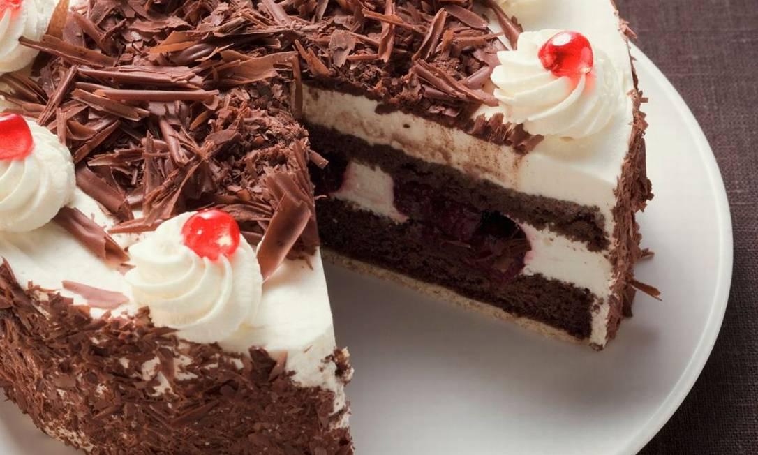 O bolo floresta negra da confeiteira Diva Oliveira Foto: Divulgação