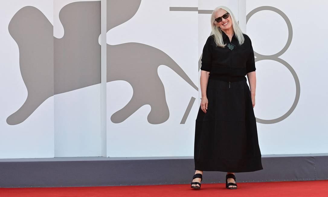 A neozelandesa Jane Campion apresentou o filme 'The Power of the Dog' na competição do Festival de Cinema de Veneza Foto: MIGUEL MEDINA / AFP