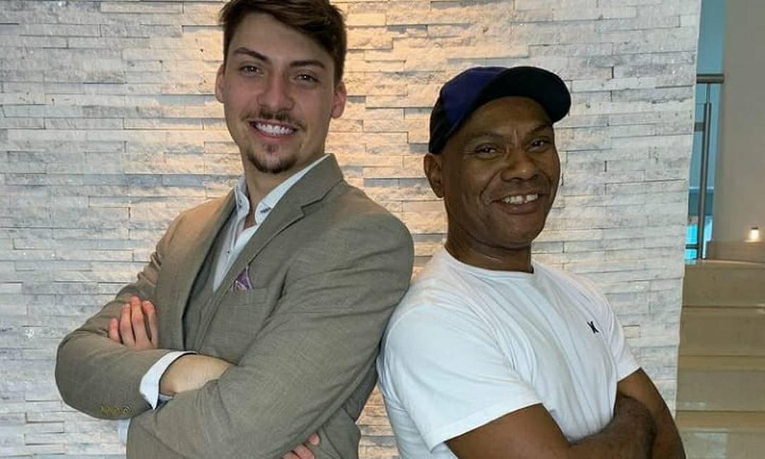 Jair Renan e Marcelo Luiz Nogueira dos Santos, funcionário da família Foto: Reprodução