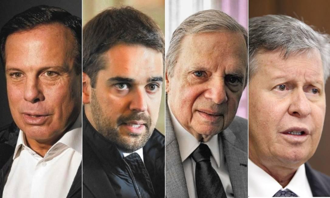 João Doria, Eduardo Leite, Tasso Jereissati e Arthur Virgílio Foto: Editoria de Arte