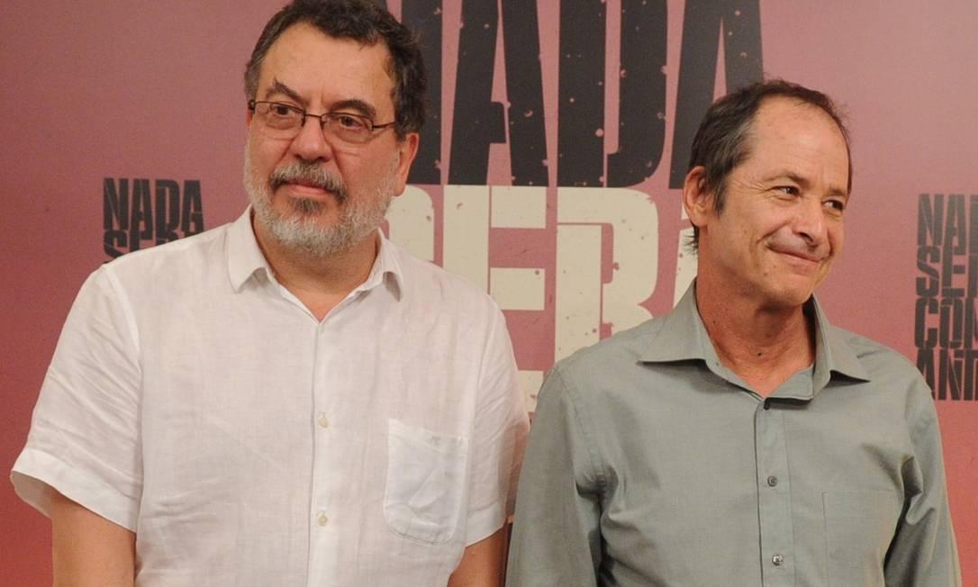 Jorge Furtado e Guel Arraes são parceiros há 30 anos e começam a rodar a adaptação cinematográfica de 'Grande sertão: Veredas' em novembro Foto: Divulgação / TV GLOBO