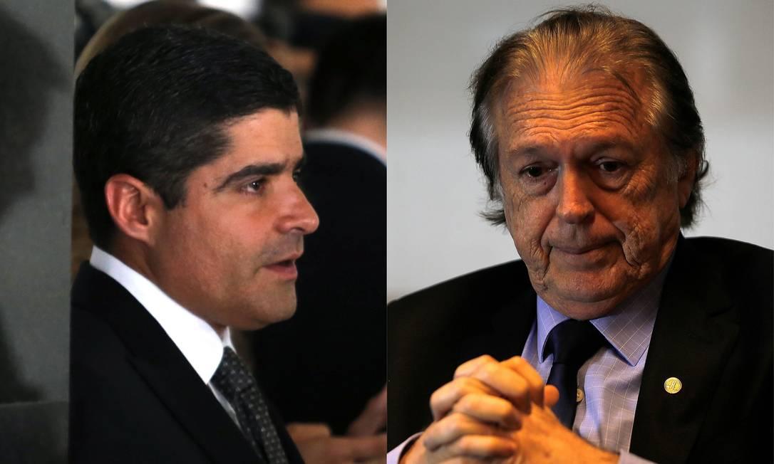 ACM Neto, presidente nacional do DEM, e Luciano Bivar, do PSL Foto: Jorge William / Agência O Globo