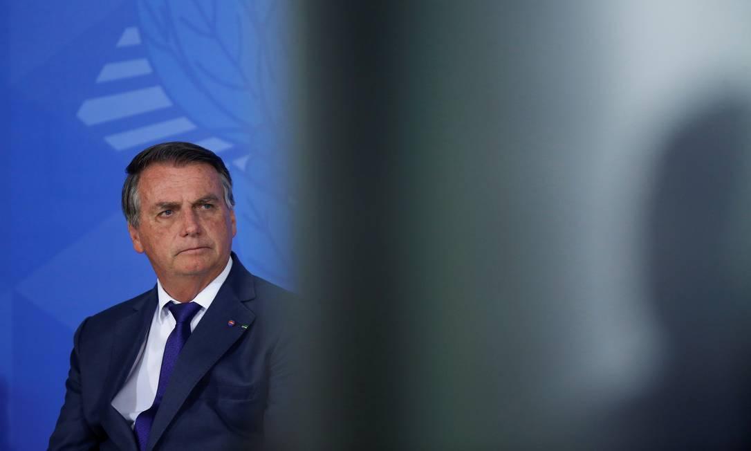 O presidente Jair Bolsonaro, durante cerimônia no Palácio do Planalto: de 30 compromissos, 18 não saíram do papel, e três só foram parcialmente atingidos Foto: Adriano Machado / Reuters / 02-09-2021