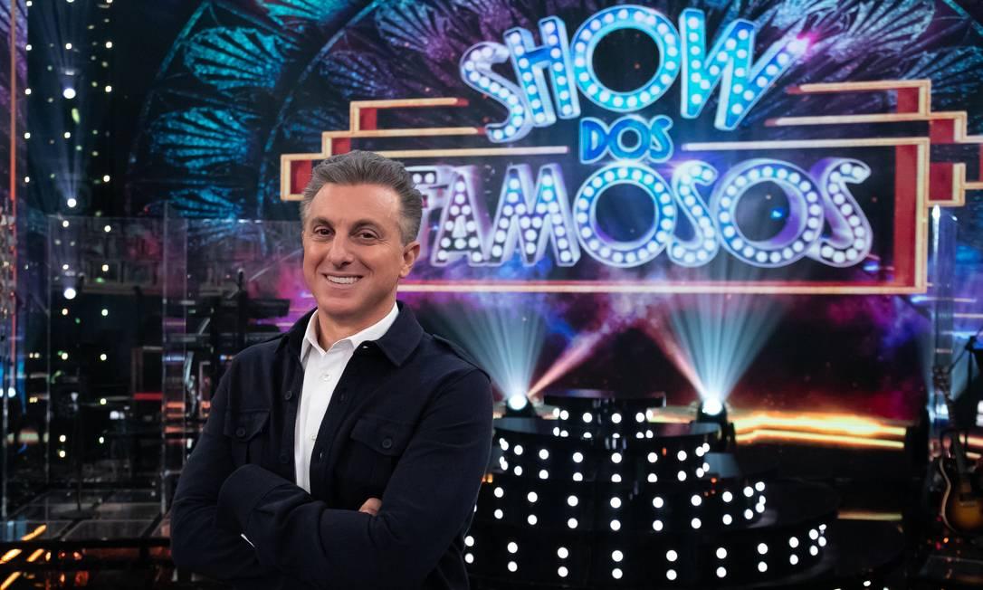 Luciano Huck no 'Domingão' Foto: MARCOS ROSA / TV Globo