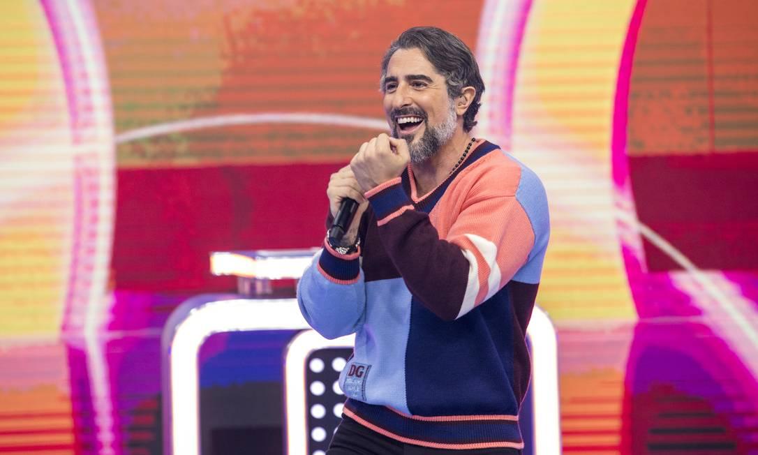 Marcos Mion na estreia do 'Caldeirão' Foto: JOAO COTTA / TV Globo