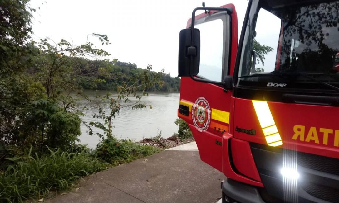 Corpo da menina de 5 anos foi encontrado boiando no rio Taquari, em Lajeado (RS) Foto: Divulgação/Corpo de Bombeiros