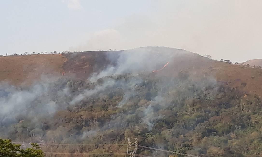 Incêndio atinge Serra do Gandarela, em Belo Horizonte Foto: Divulgação/Corpo de Bombeiros Militar de Minas Gerais