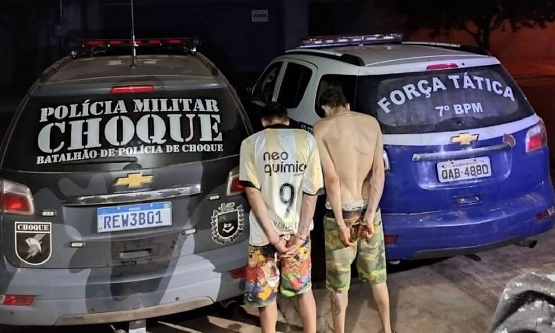 Polícia prendeu dois suspeitos de participar de roubo em Aquidauana Foto: Divulgação