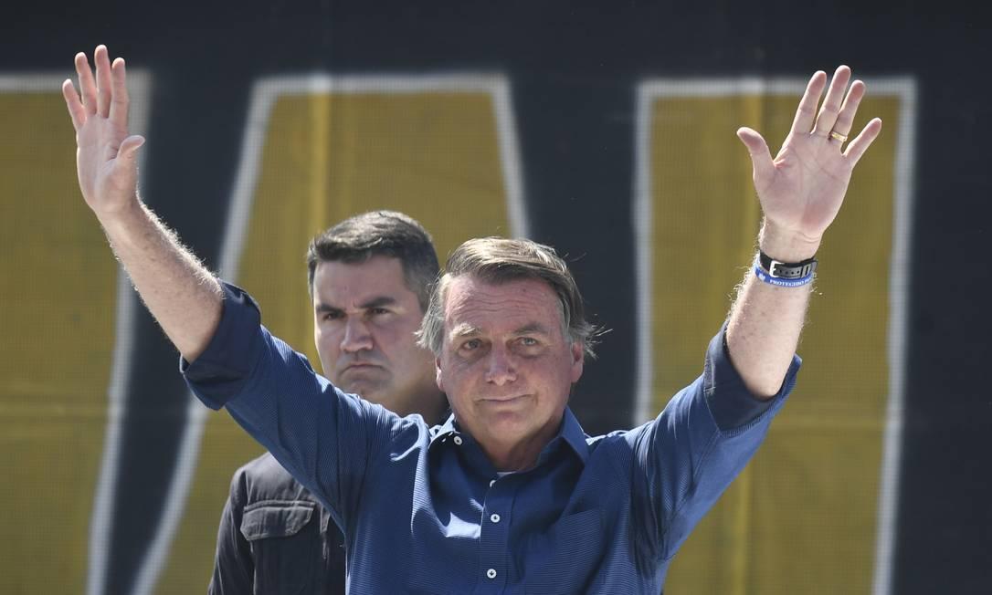 Jair Bolsonaro durante discurso em Brasília Foto: Mateus Bonomi / Agência O Globo