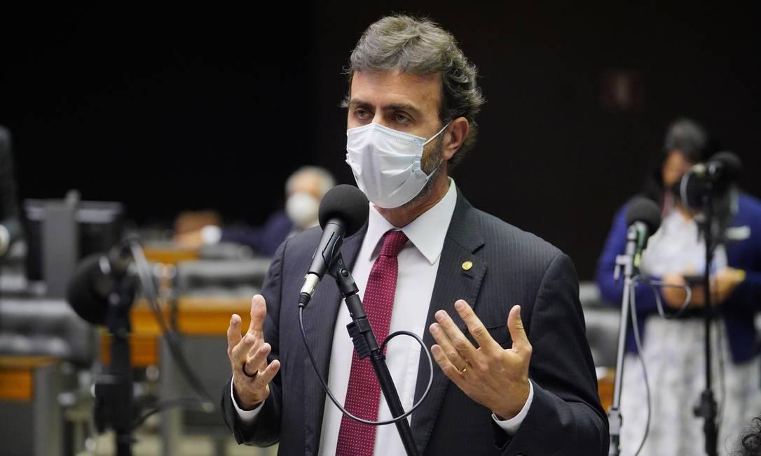 Deputado Marcelo Freixo (PSB-RJ), líder da minoria na Câmara Foto: Pablo Valadares / Câmara dos Deputados