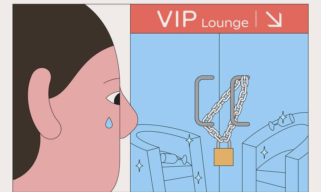 A maioria dos lounges de aeroportos internacionais nos Estados Unidos continua fechado, mas as salas VIP estão reabrindo em terminais domésticos, com experiências variadas Foto: Camilo Huinca / The New York Times