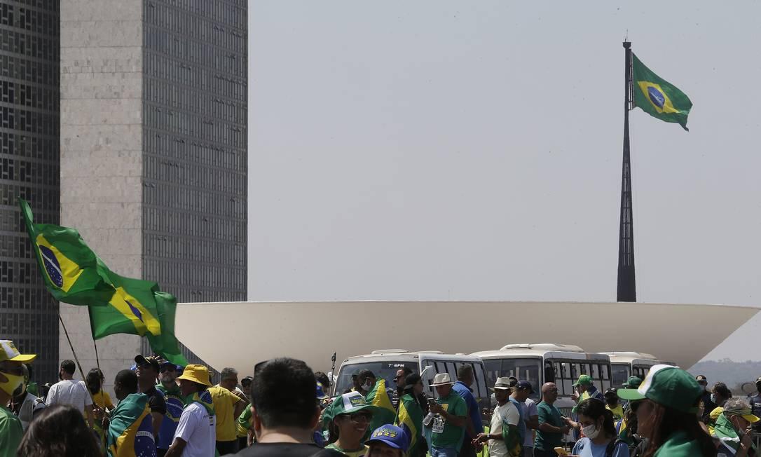 Radicalização do discurso de Bolsonaro pode reverberar na pauta econômica no Congresso Foto: Cristiano Mariz / Agência O Globo