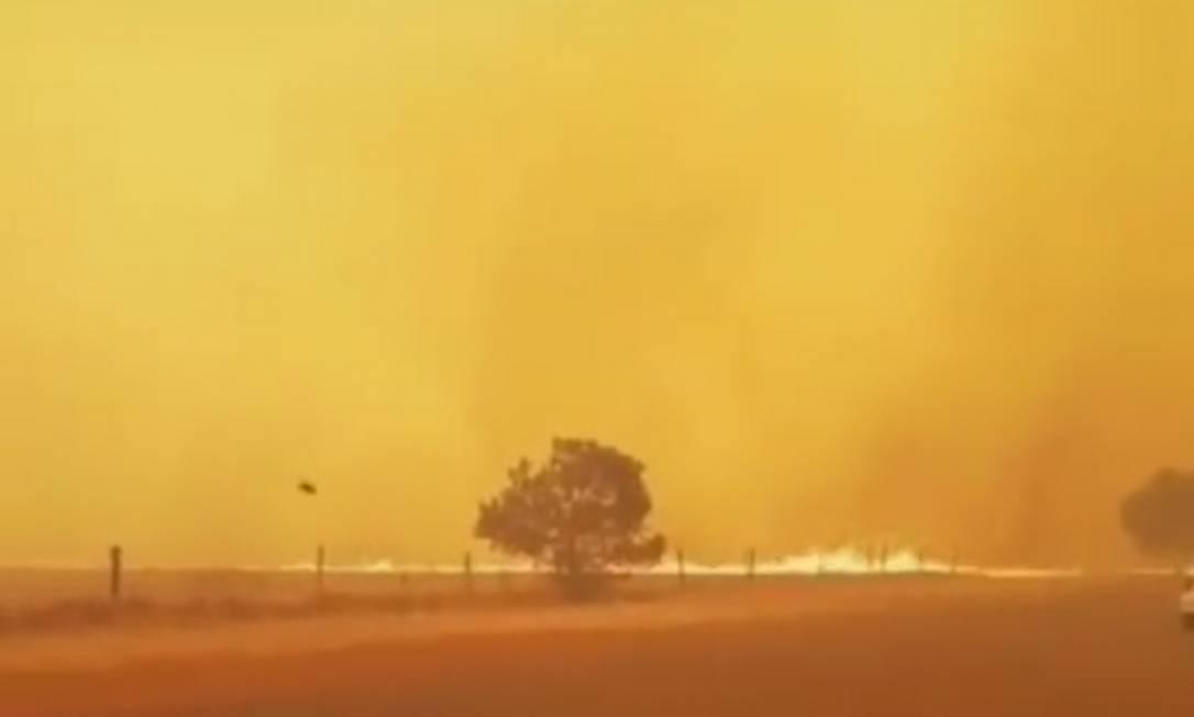 Pirajuba viveu tarde de terror nesta quarta-feira com fogo Foto: Reprodução
