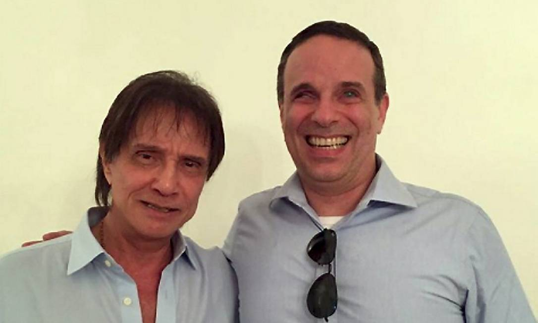 Dudu Braga e o pai, Roberto Carlos Foto: Foto Reprodução/Instagram / Agência O Globo