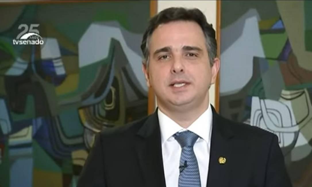 Pacheco diz que solução para crise não está nos 'arroubos antidemocráticos' Foto: Reprodução