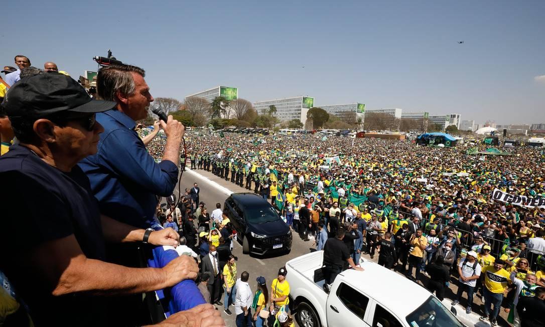 Presidente Jair Bolsonaro em discurso do 7 de setembro Foto: Foto: Alan Santos/PR / Agência O Globo