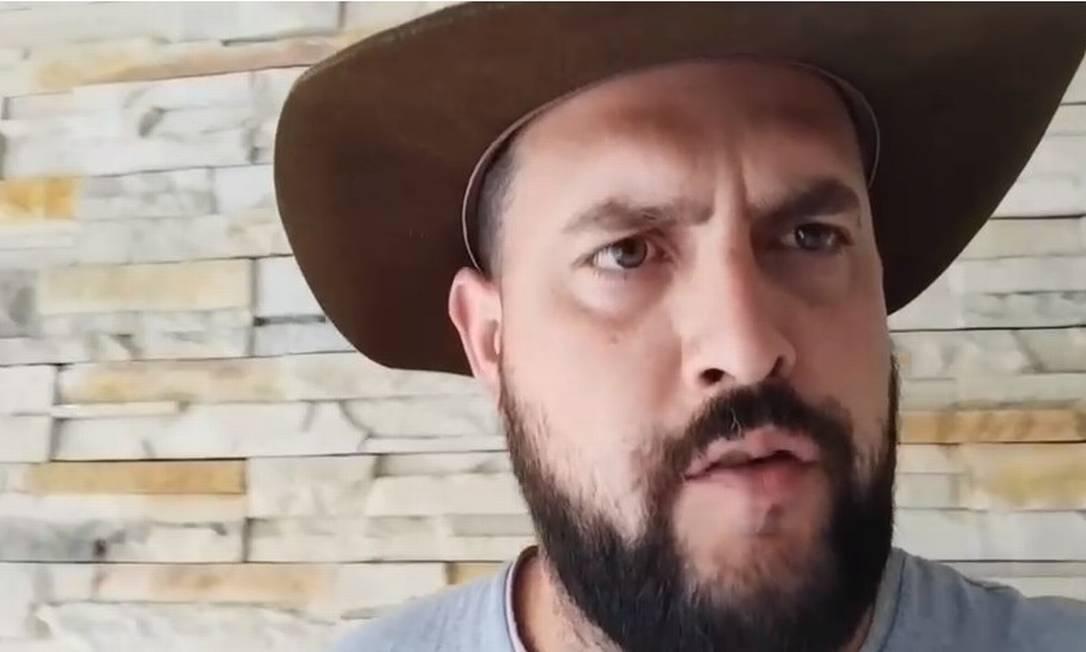 Zé Trovão diz estar foragido no México: 'Vou ser preso a qualquer momento' Foto: Reprodução