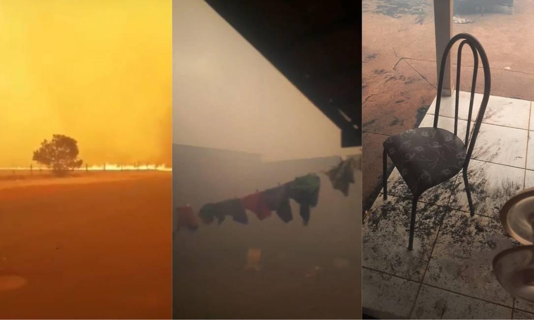 Pirajuba viveu tarde de terror na última quarta-feira com fogo Foto: Reprodução/Arquivo Pessoal/Larissa Borges