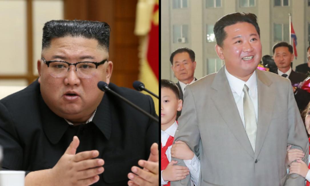 Kim Jong-un apareceu mais magro em desfile da Coreia do Norte Foto: KCNA