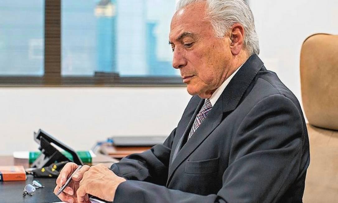 Articulador da carta com acenos ao Supremo, Temer acredita que Bolsonaro  não promoverá nova escalada da crise institucional - Jornal O Globo