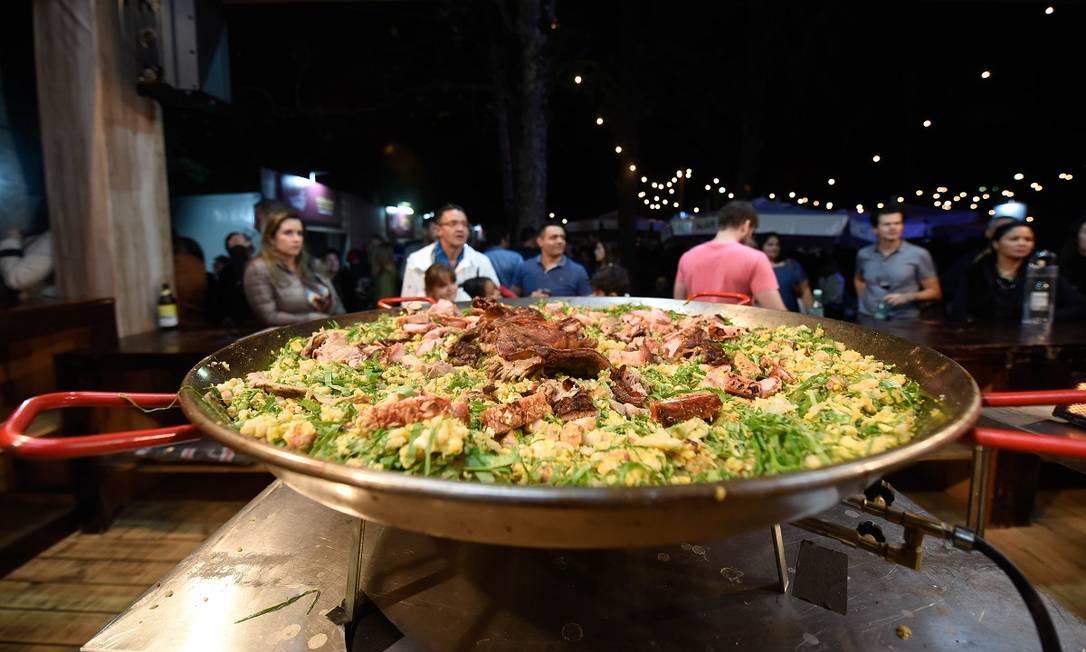 Prato da edição de 2019 do Festival Cultura e Gastronomia de Tiradentes, a última com presença de público, antes da de 2021, que começará em 18 de setembro Foto: Paulo Filho / Divulgação
