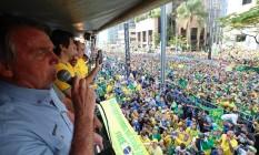 Bolsonaro atacou STF e o ministro Alexandre de Moraes, em discurso em São Paulo no 7 de setembro Foto: Divulgação