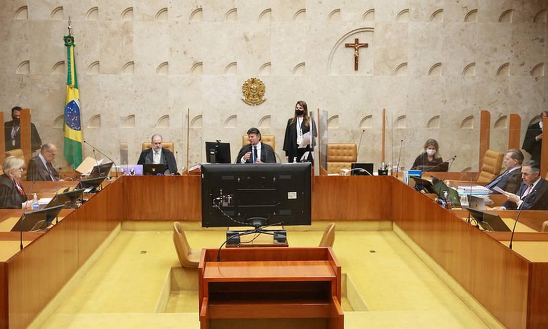 O plenário do Supremo Tribunal Federal (STF) 08/09/2021 Foto: Divulgação