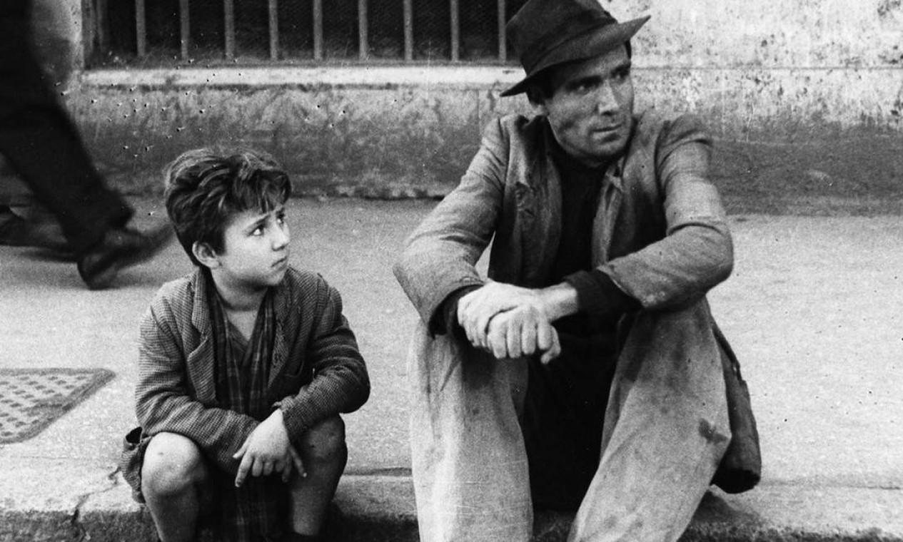 Lamberto Maggiorani em Ladrão de bicicleta (1948), de Vittorio de Sica Foto: Divulgação