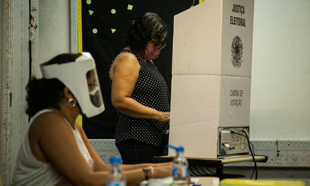Primeiro turno das eleições municipais no Rio 15/11/2020 Foto: Hermes de Paula / Agência O Globo