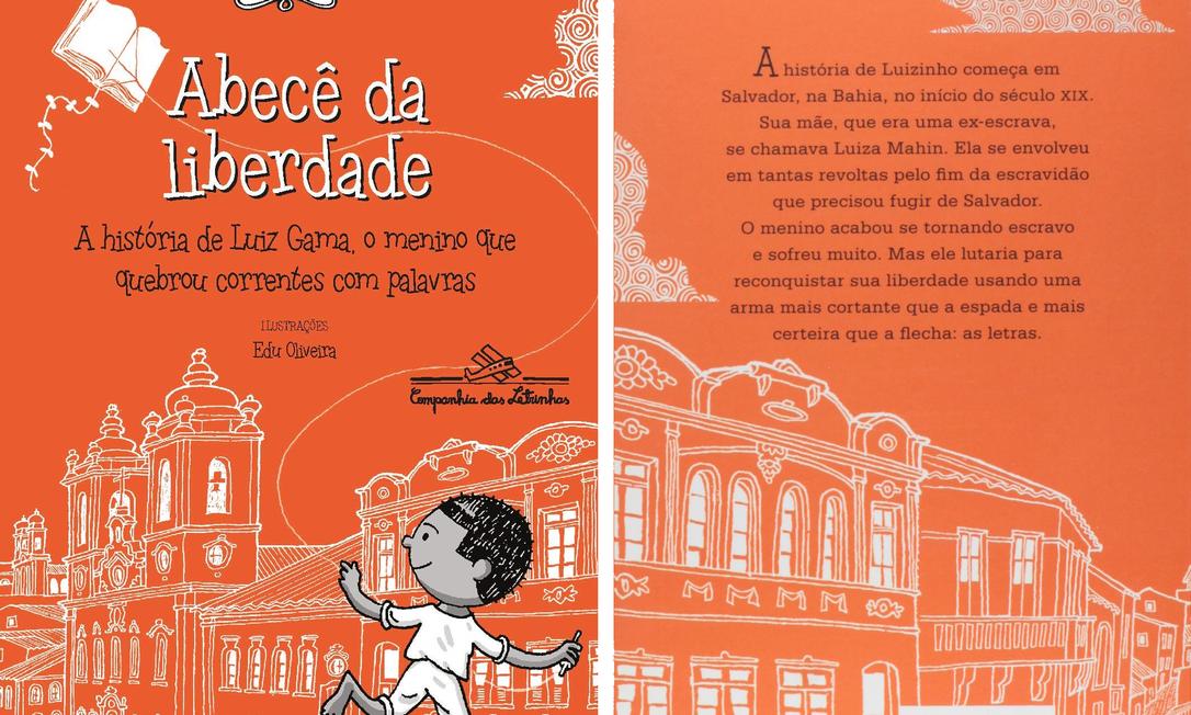 """Capa e contracapa do livro """"Abecê da Liberdade"""", da editora Companhia das Letrinhas Foto: Divulgação"""
