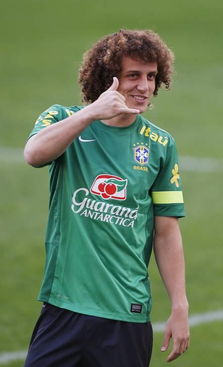 David Luiz em treino da seleção brasileira Foto: KIM HONG-JI