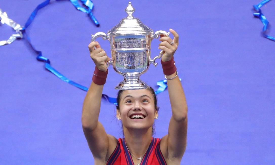 Jovem britânica Emma Raducanu conquista o US Open Foto: KENA BETANCUR / AFP