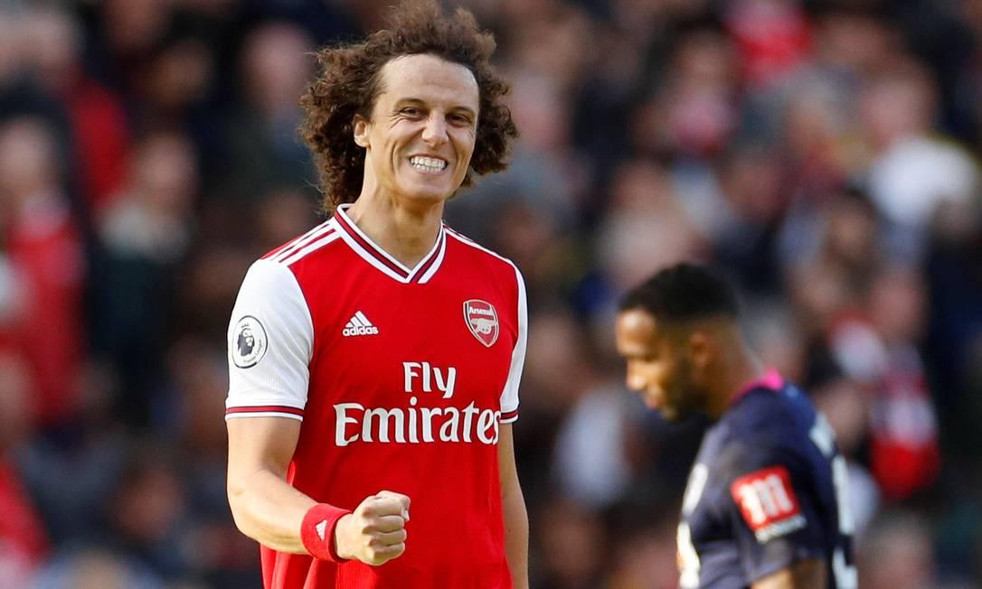 David Luiz estava no Arsenal antes de ser contratado pelo Flamengo Foto: JOHN SIBLEY / Reuters