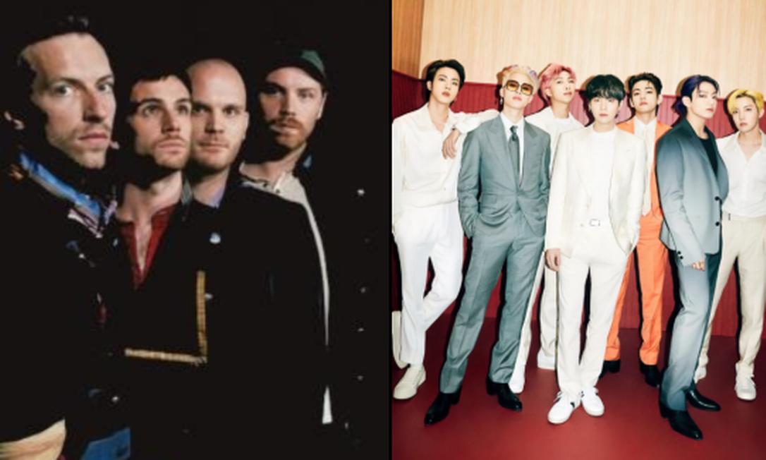Coldplay e BTS fazem parceria para a música 'My Universe' Foto: Reprodução