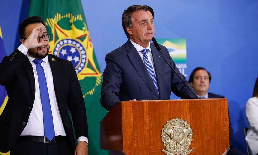 Bolsonaro baixa o tom no primeiro discurso no Planalto após seu recuo de pacificação Foto: Alan Santos / Divulgação