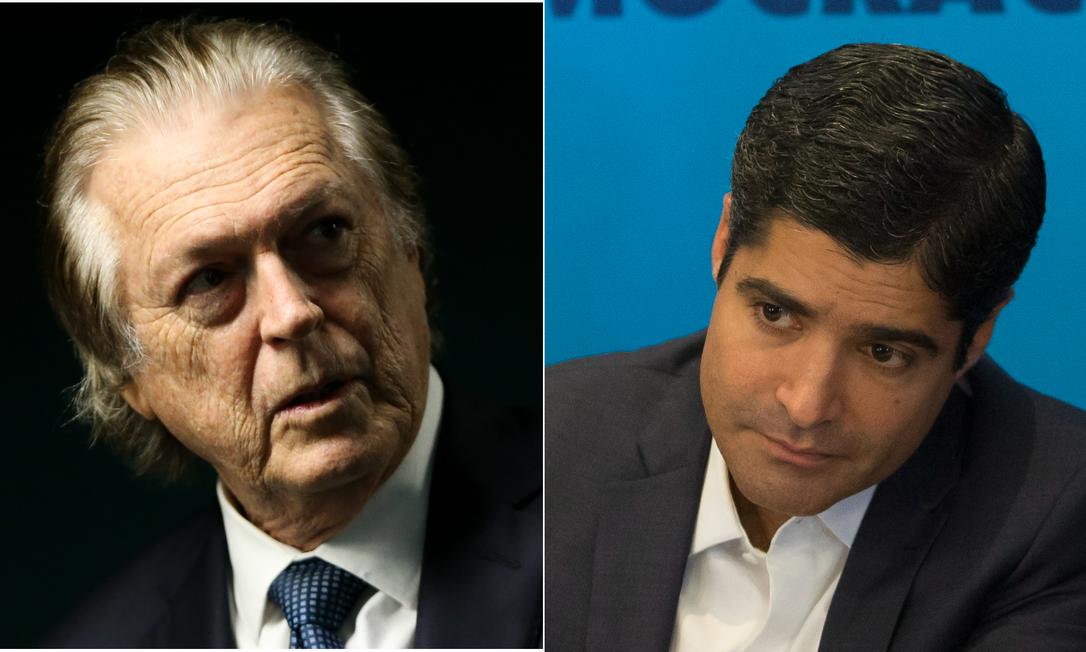 O presidente do PSL, Luciano Bivar, e o presidente do DEM, ACM Neto Foto: Arquivo O Globo